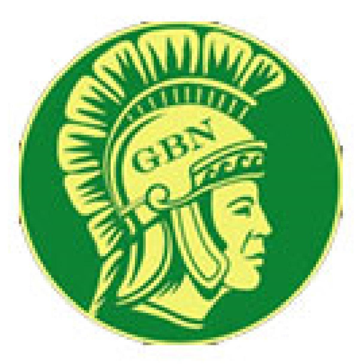 GBN logo of a man's head with a roman helmet,