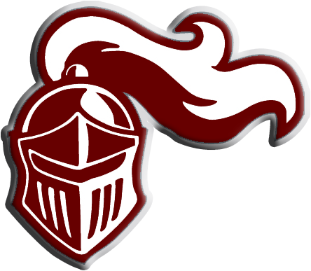 Princeville Logo of a red knights helmet.