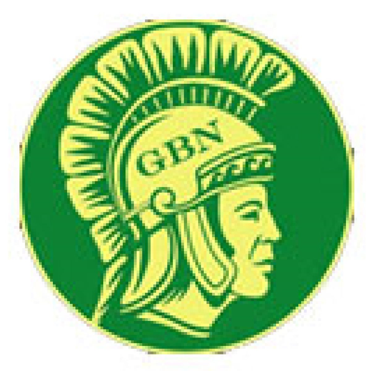 GBN logo of a man's head with a roman helmet,